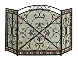 Benzara Metal Fire Screen Fashion for Partition
