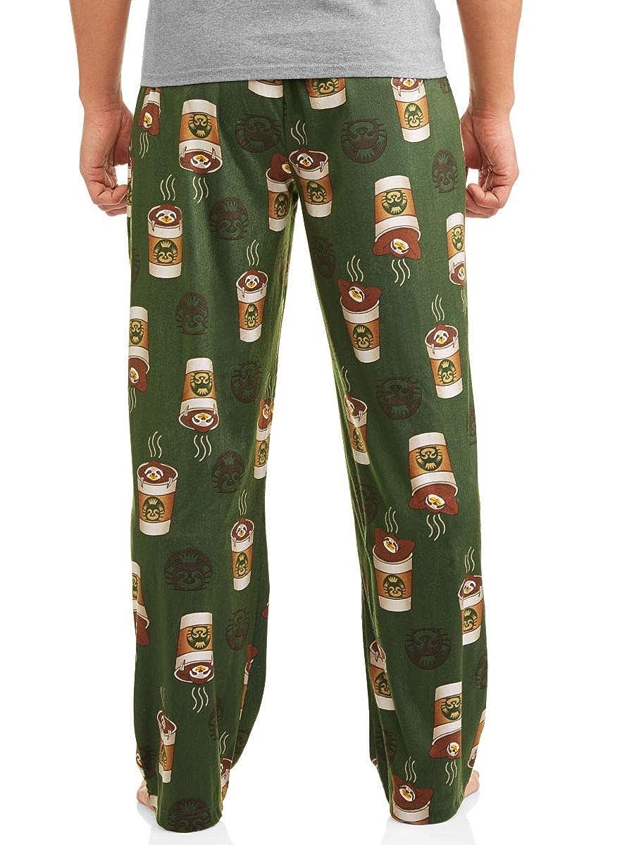 3b2a4926630 Briefly Stated Men's Sloth Coffee Cup Comical Graphic Sleep Lounge Pajama  Pants