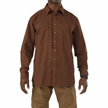 37ab98edd Amazon.com: 5.11 Men's Covert Herringbone Shirt: Sports & Outdoors