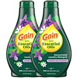 Gain with Essential Oils Liquid Laundry Detergent, The Serene Scent, Lavender & Calm Chamomile, Pack of 2, 42 fl oz Each