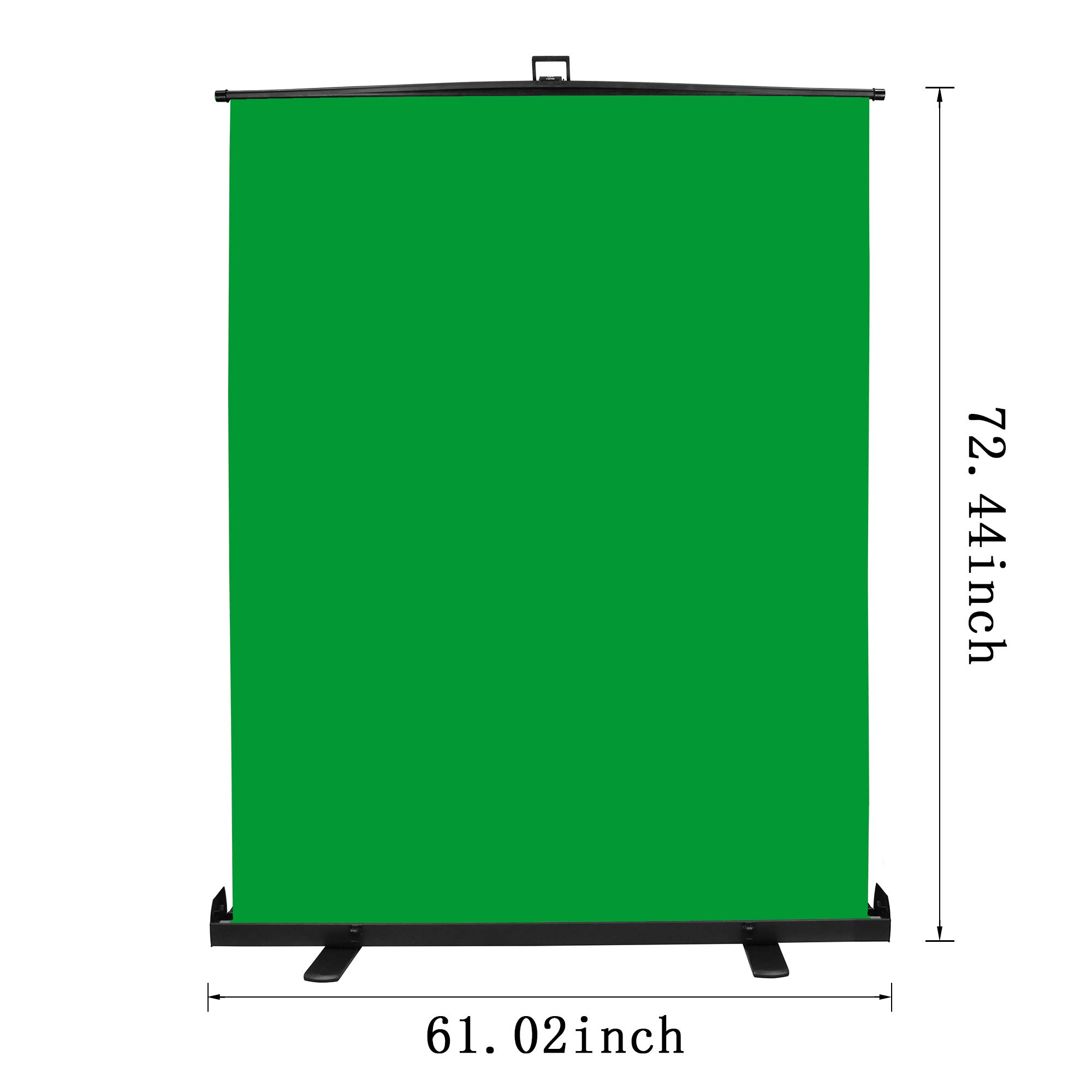 Emart Green Screen, Collapsible Chromakey Panel for Photo Backdrop Video Studio,Portable Pull Up Wrinkle-Resistant Greenscreen Background, Auto-Locking Air Cushion Frame, Solid Safety Aluminium Base by EMART (Image #3)