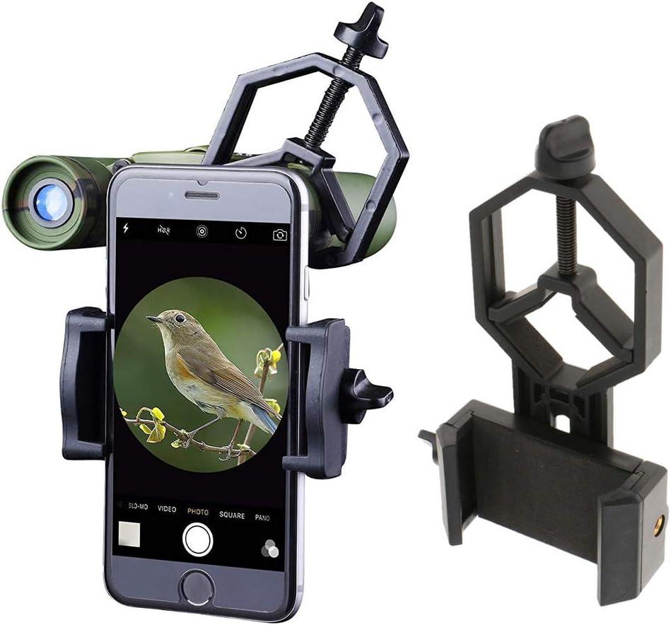 Mobile Cellphone Telescope Adapter Holder Mount Bracket Spotting Scope Black