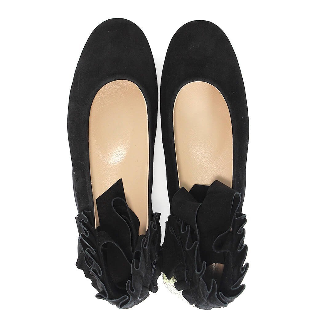 brand new c9f86 956a3 Amazon.com: Pinko Italiano Black/Silver Ballet Flats: Shoes