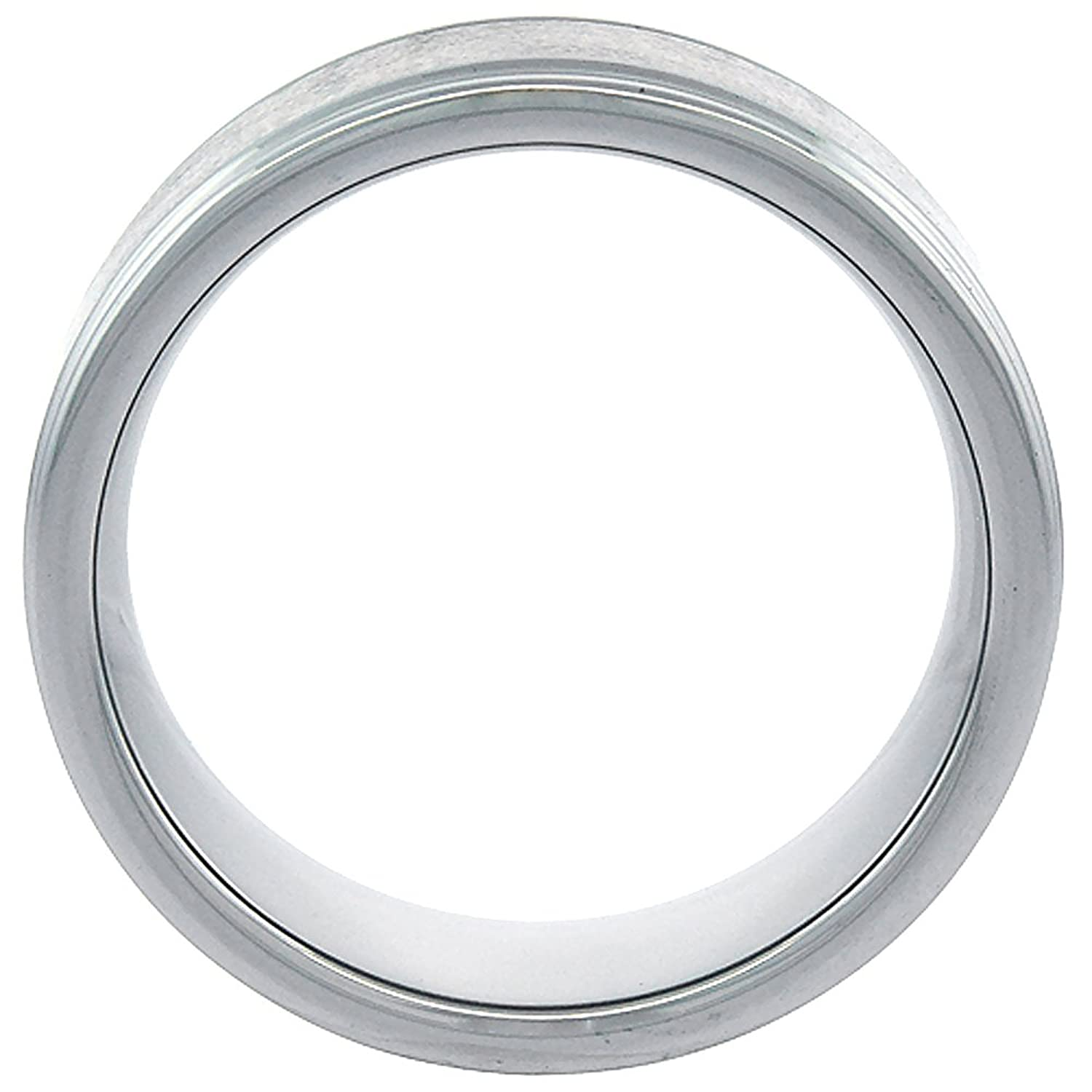Tungsten Wedding Grooved Brushed Comfort Image 2