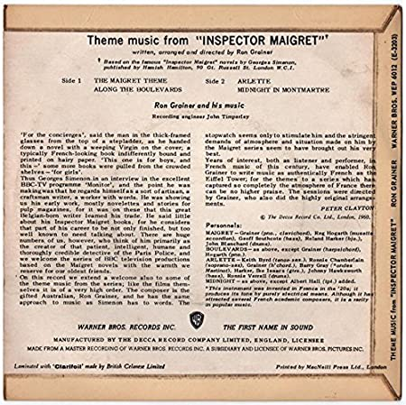 Theme Music From Inspector Maigret: Ron Grainer: Amazon.es ...