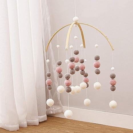 Amazoncom Baby Crib Mobilebaby Mobile Crib Felt Ball Hanging Toys