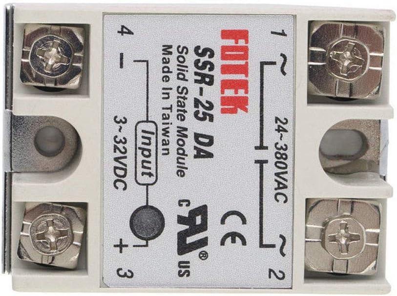 Idyandyans SSR-10DA SSR-25DA SSR-40Da SSR-40AA SSR-75DA SSR-60Da DC-AC Solid State Relais-Modul DC 3-32V zu 24-380V AC Spannungswandler