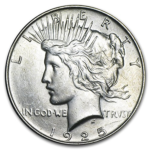 (1925 Peace Dollar BU $1 Brilliant Uncirculated)