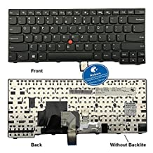 Rinbers Laptop Replacement Keyboard without Backlight Repair Part for IBM Lenovo Thinkpad Edge T431 T431S E431 T440 T440P T440S E440 L440 T450 T450S T460 T460P L450 T440E Series US Layout