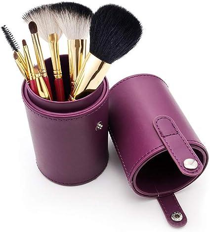Estuche para brochas de maquillaje, vacío, de piel sintética, portátil, organizador para cosméticos: Amazon.es: Hogar