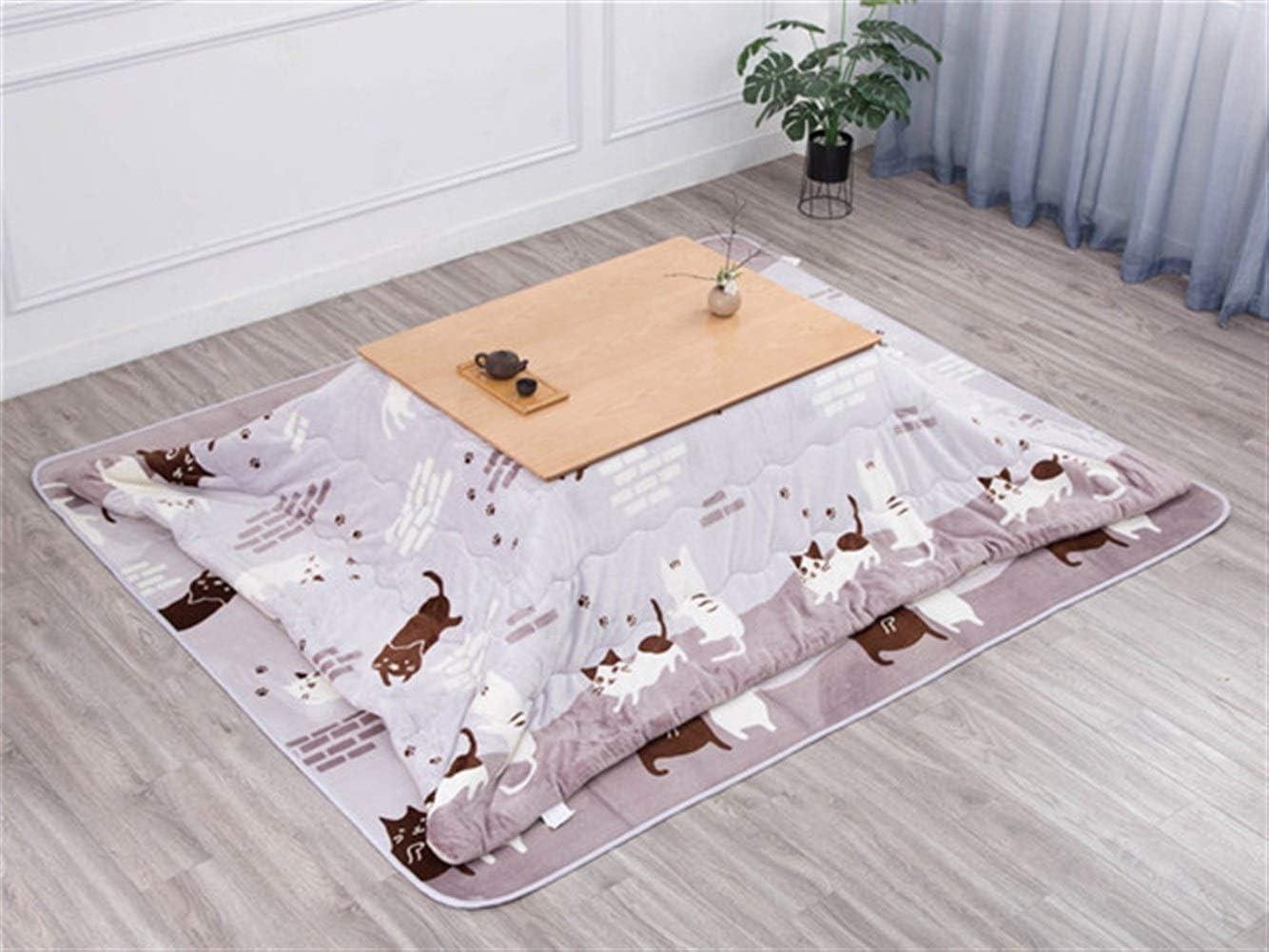 CharmingNight 2020 New Kotatsu Table Nordic Design Solid Oak Wood Japanese Furniture for Living Room Casual Heated Center Tea Tatami Table Creativity (Color : Natural Set)