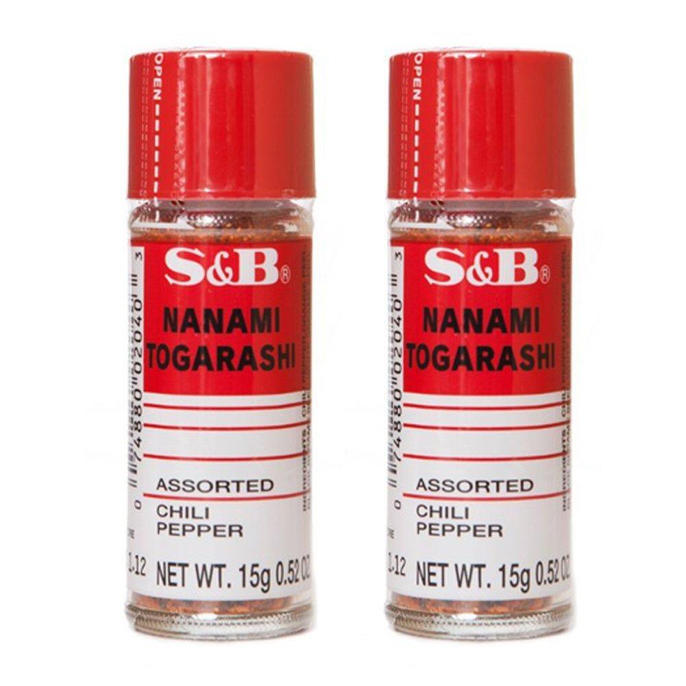 [ 2 Packs ] S&B Nanami ( shichimi ) Togarashi Assorted Chili Pepper 0.52 Oz