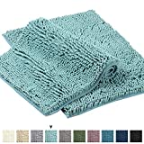 Plush Microfiber Bath Rugs Chenille Floor Mat Ultra Soft Washable Bathroom Dry Fast Water Absorbent Bedroom Area Rugs Kitchen Rugs Bathroom Rugs, 17