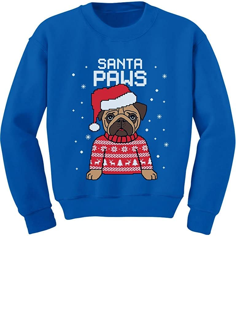 TeeStars - Santa Paws Pug Ugly Christmas Sweater Dog Toddler/Kids Sweatshirts 3T Blue GtPtP30gf5P0f590o