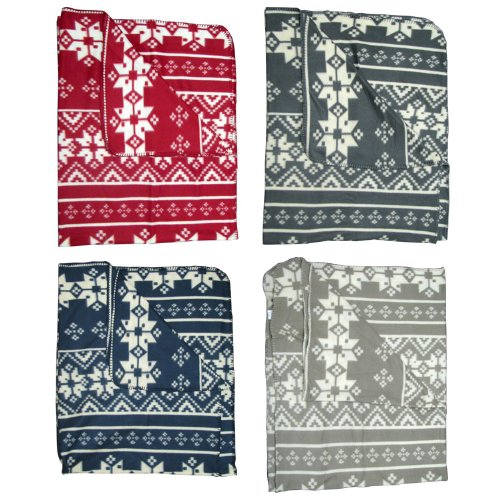 Nordic Fair Isle Fleece Throw Blanket: Amazon.co.uk: Kitchen & Home