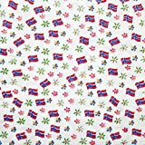 Norway Flags & Floral Paper Luncheon Napkins - 20 Pack