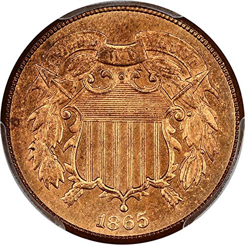 1865 P 2-Cent Pieces Two-Cent MS64 PCGS RD