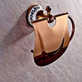 SSBY Bathroom copper rose gold tissue box toilet roll holder toilet paper holder
