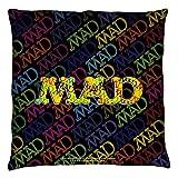 Mad Magazine Humorous TV & Movie Parodies So Much Mad Throw Pillow