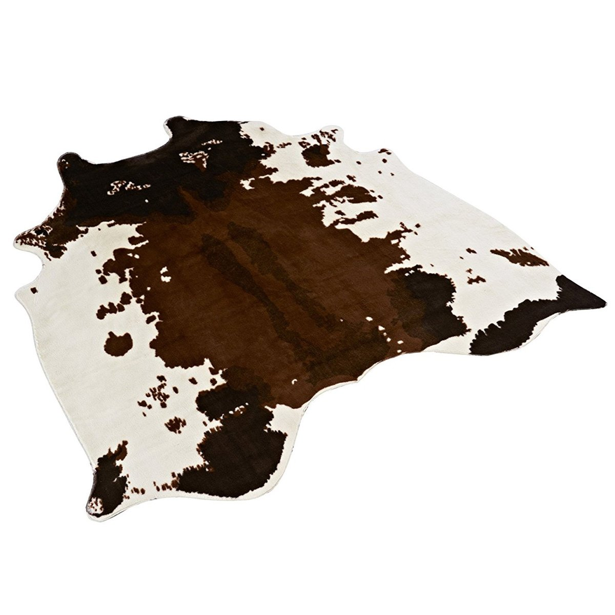 MustHome Soft Faux Cowhide Rug 4.5x4.4 Feet Cow Print Rug Perfect Throw Rug for Living Room/Tile/Lounge Room/Office