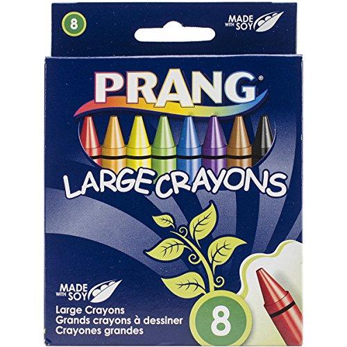 Crayons Tuck Box (Prang Crayons, Large Size, Box of 8 Crayons, Tuck Box, Assorted Colors (00900))