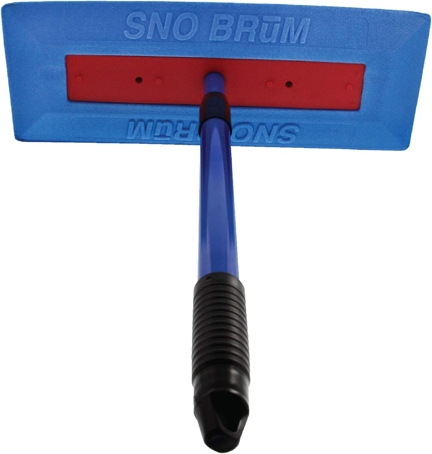 "SNOBRUM – The Original Snow Broom and Snow Remover for Cars and Trucks – 28"" Extendable Handle, Push-Broom Design - Safe Winter Snow Removal for Your Vehicle Without Paint Scratching"