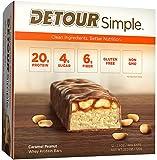 Detour Simple Whey Protein Bar, Caramel Peanut, 2.1 Ounce, 12 Count