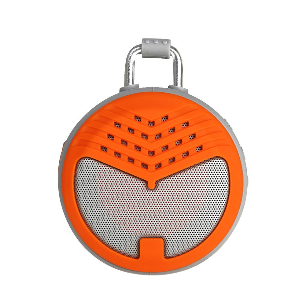RONSHIN Portable Bluetooth Speakers,Mini Portable Round Waterproof Wireless Outdoor Subwoofer BT Speaker with Hang Buckle Green by RONSHIN
