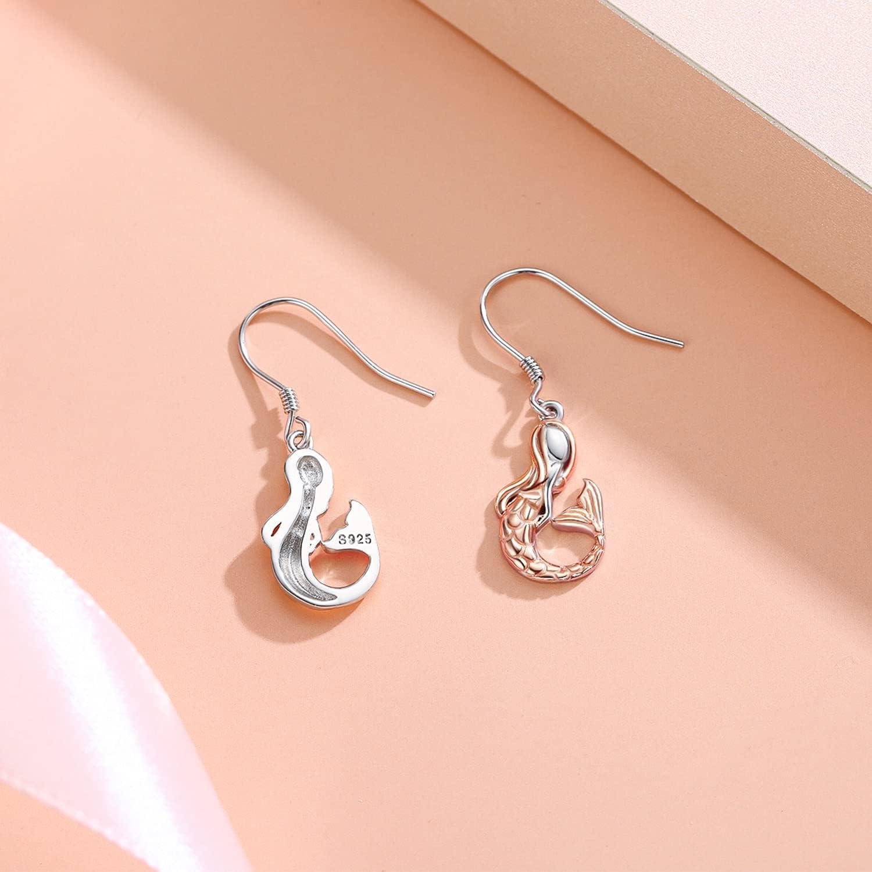 Mermaid Earrings  6\u201d SM bracelet  simple gift  ocean jewelry  gift set  mermaid jewelry  gift for girls