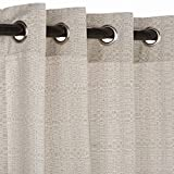 Sunbrella Outdoor Linen Curtain with Grommets