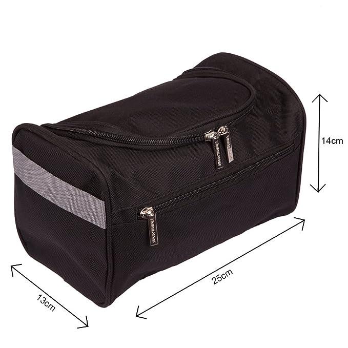 fe05f5c321ec Hanging Men s Travel Toiletry Bag Wash Bag Shaving Dopp Kit - Perfect For  Grooming   Travel Size Toiletries (Black)  Amazon.co.uk  Luggage