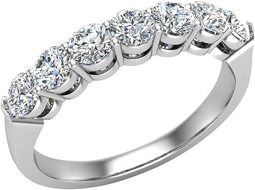 anillo de oro blanco con 9 diamantes exclusivo
