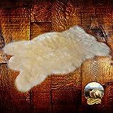 Faux Fur Shag Rug – Off White – Bearskin Pelt – Shaggy Accent – Lodge – Cabin – Faux Sheepskin Area Rug Review