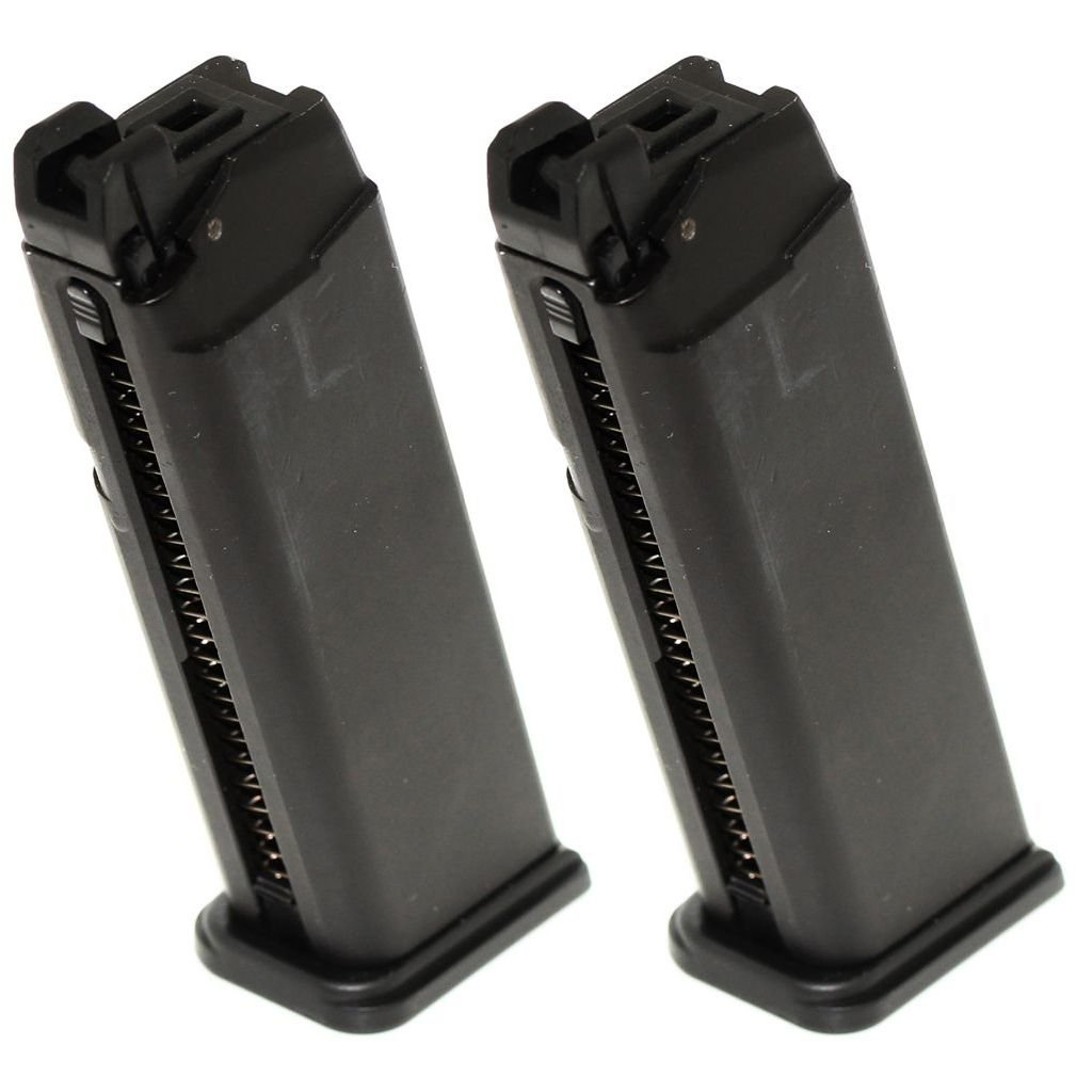 Airsoft Softair Ausrüstung 2pcs 25rd Gas Mag Magazin für G17 Serie GBB Pistole Schwarz Airsoft Website