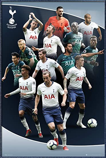 Framed Tottenham Hotspur Players 2018-2019 Players Poster New