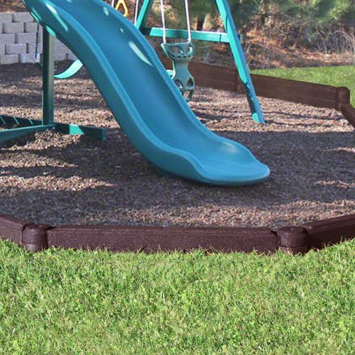FlexiStack 4 Foot Rubber Border - Brown by FlexiStack