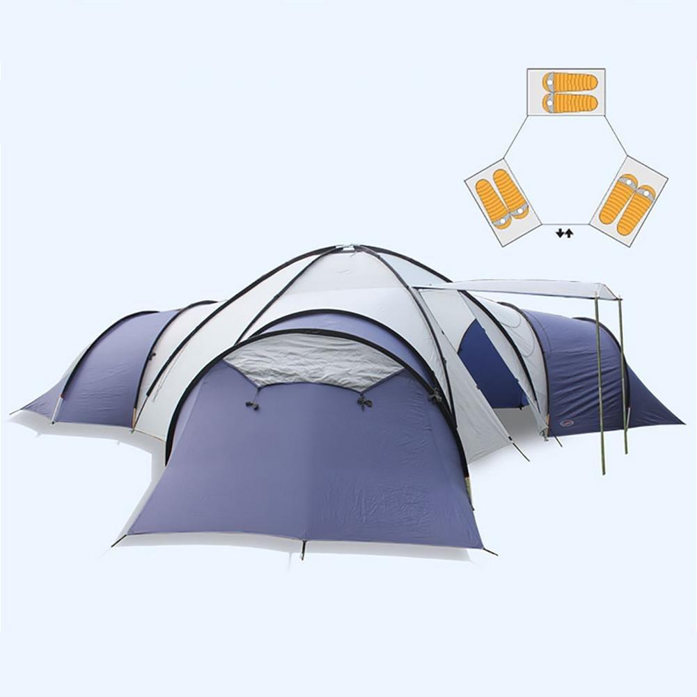 MIAO Luxus Camping Zelte, Outdoor übergroßen drei Wohnzimmer und ein Wohnzimmer