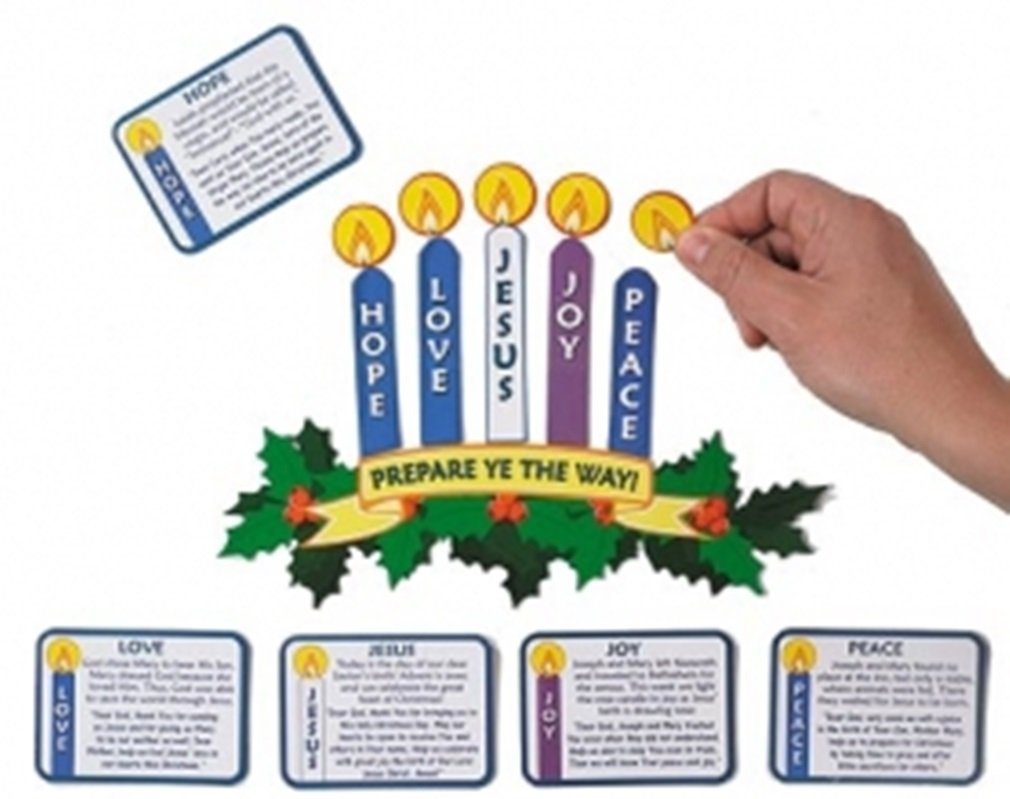 amazon com magnetic advent wreath and candles for christmas
