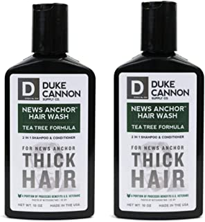 product image for Duke Cannon Supply Co. - News Anchor Hair Wash Shampoo and Conditioner, Tea Tree (2 Pack of 10 oz) 2-in-1 Shampoo Conditioner Combo for Thick Healthy Hair - Tea Tree