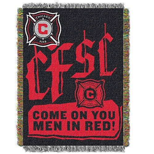 (MLS Chicago Fire Handmade Woven Tapestry Throw, 48