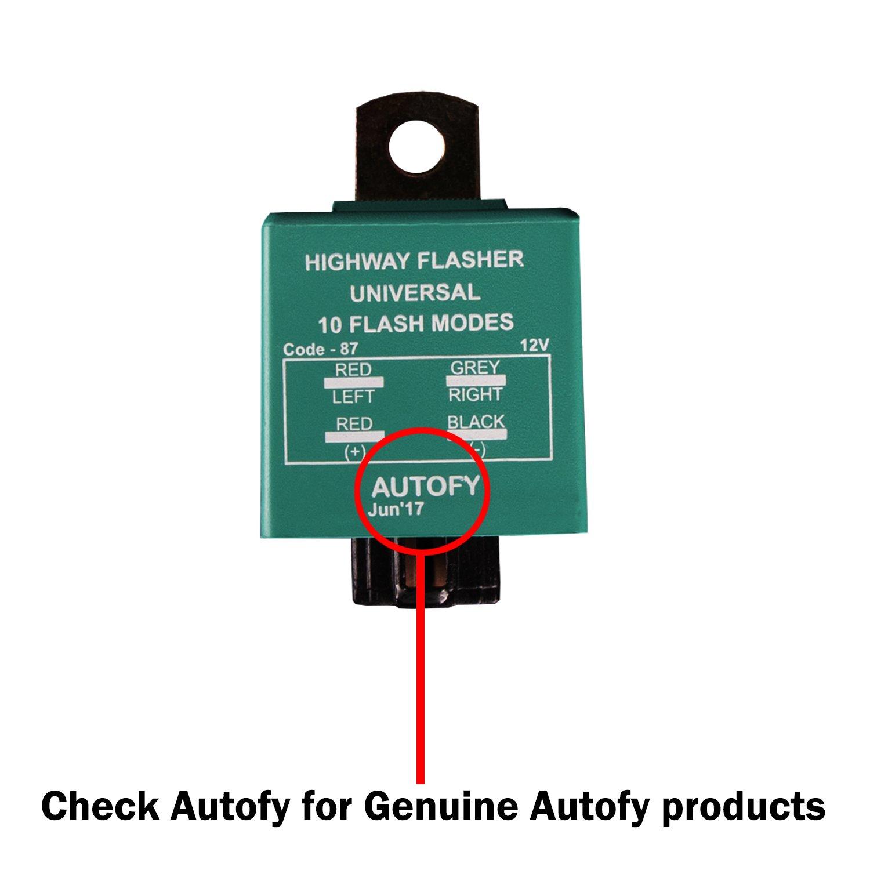 Autofy Universal Highway Indicator Flasher/Auxiliary or Fog Light ...