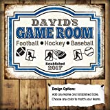 Custom Game Room Sign Multiple Sport Enthusiast Card Collector Sign Metal Sign 8x12 inch
