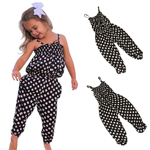 35cc60625 Amazon.com  Goodlock Toddler Kids Fashion Jumpsuit Baby Girls Summer ...