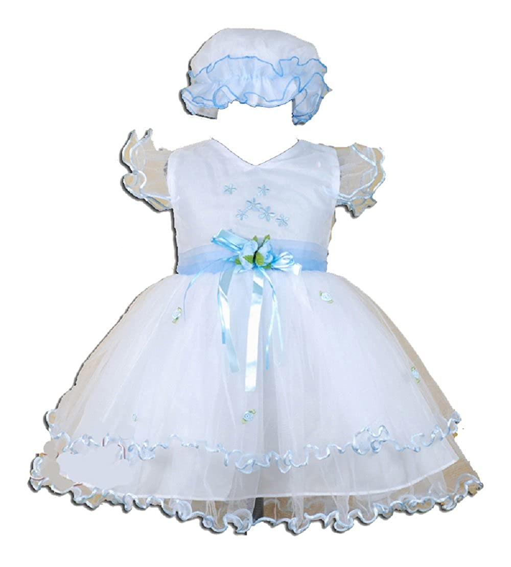 Cinda Clothing Baby Girls Christening/Wedding/Party Dress with Bonnet