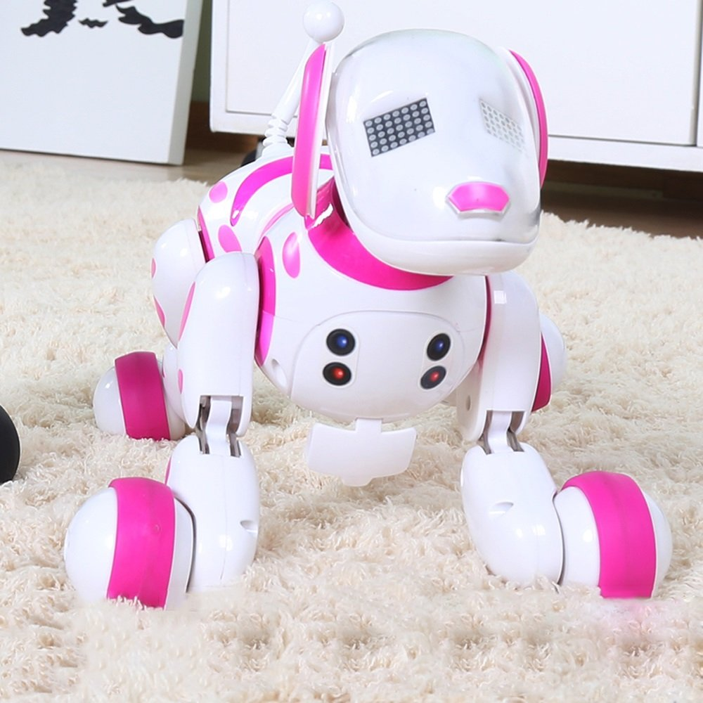 Pinjeer Creative Educational Remote Control Intelligent Simulation Boys and Girls Electronic Puppies Walking Will Sing and Dance Electric Toys for Kids 2+ (Color : White) by Pinjeer
