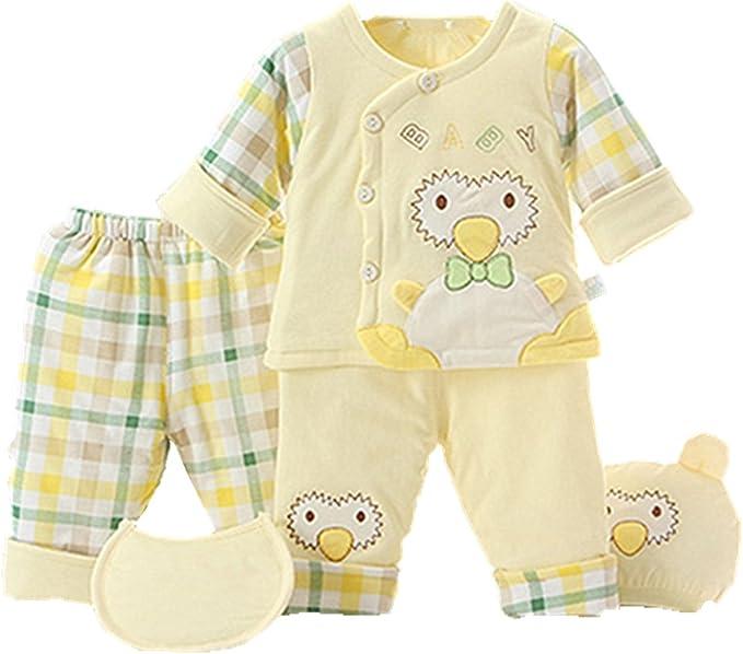 Chickwin Pijamas de bebé, 5pcs Puros cálidos de algodón otoño e ...