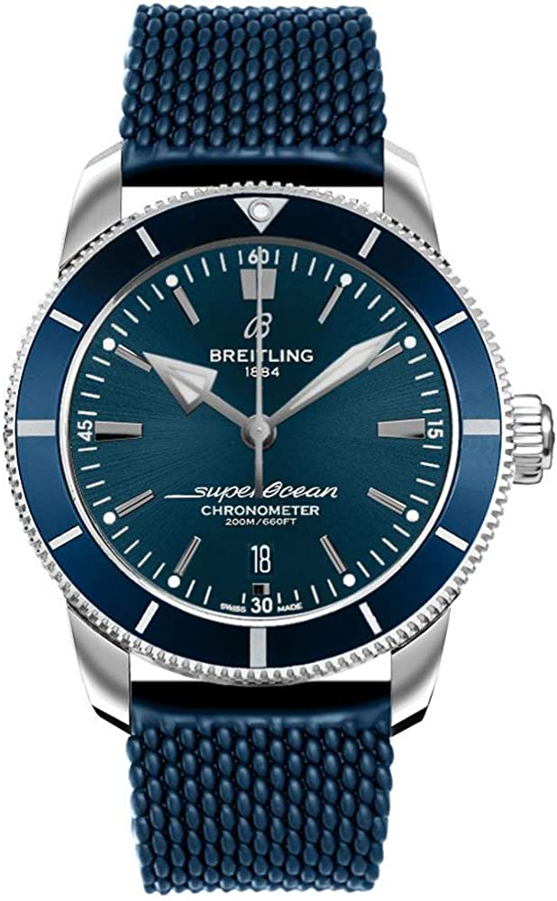 Breitling Superocean Heritage II B20 Automatic 44 Blue Aero Classic Rubber Strap Watch AB2030161C1S1