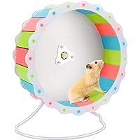"BestFire 7.48"" Diameter Quiet Hamster Exercise Wheel, Multi-Colored Hamster Wheel Silent Spinner, Made of Wood…"
