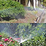 LOCHI 1/2'' Adjustable Plastic Pop up Sprinklers 25-360 Degree Lawn Irrigation Watering