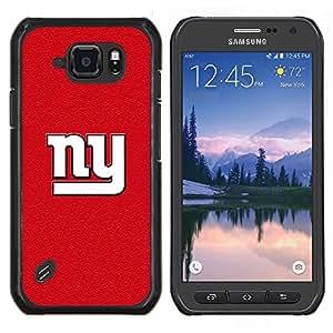 Nueva York Red- Metal de aluminio y de plástico duro Caja del teléfono - Negro - Samsung Galaxy S6 active / SM-G890 (NOT S6)